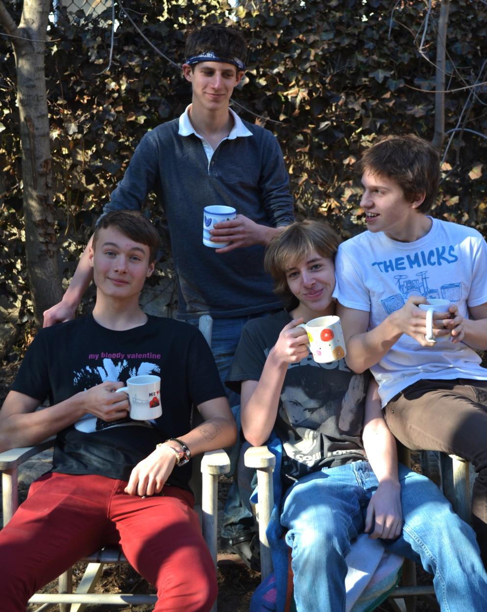 Noah: Top Left Finn: Bottom Left Theo: Bottom Right Henry:  Far Right